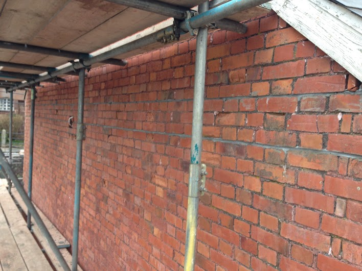Beaming - Subsidence and Bowing Wall Repair, Crediton, Devon